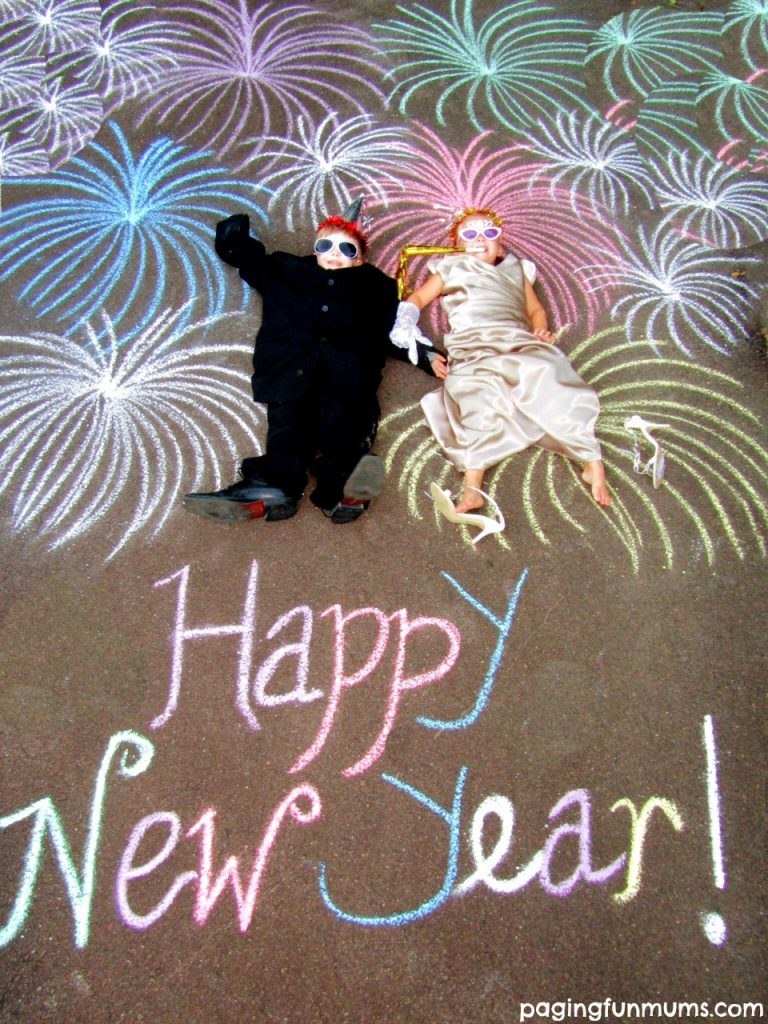 New Year's Eve Chalk Drawings