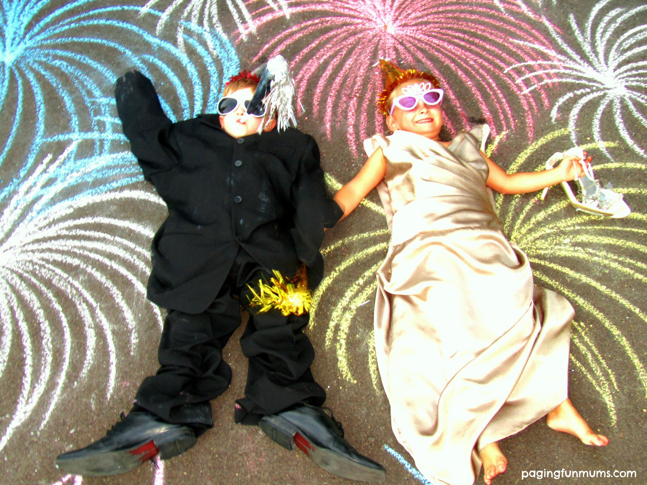 New Year S Eve Chalk Drawings With Kids Paging Fun Mums