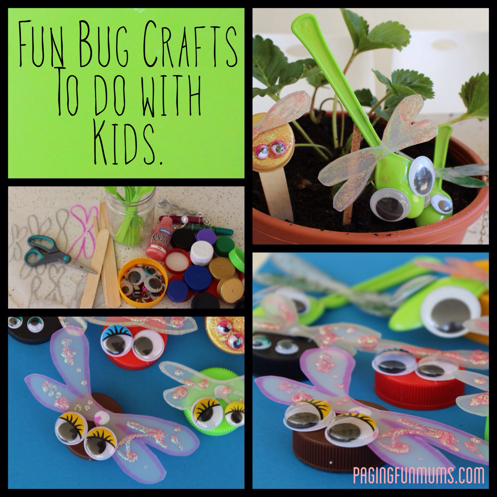 Fun & Easy Bottle Cap Bug Craft – (Louise)
