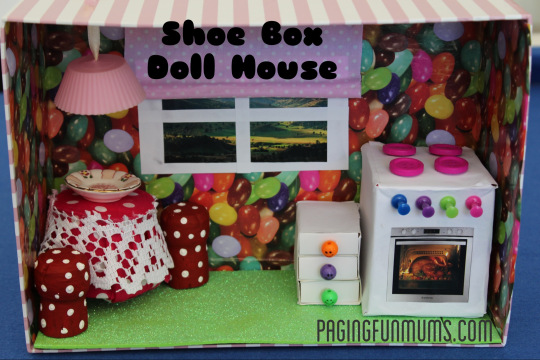 Shoe Box Doll House…with working Light!