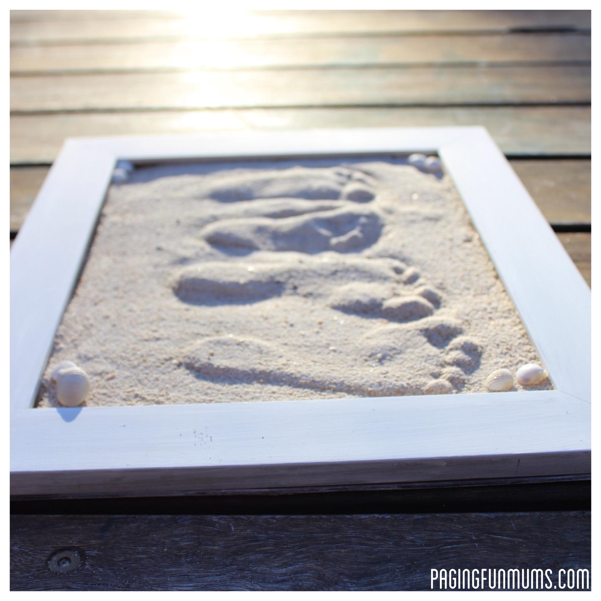 Finished plaster footprints