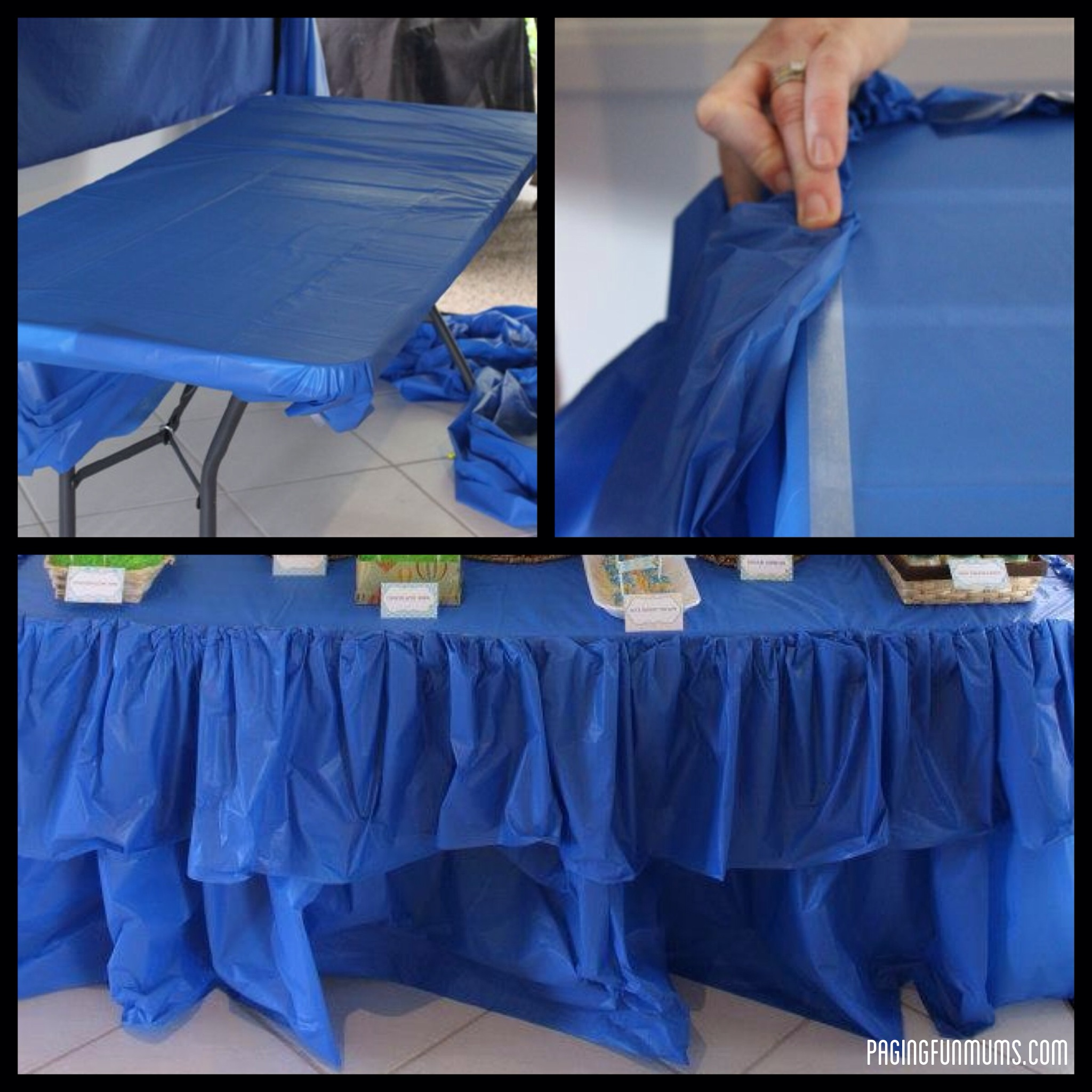 cheap easy party table ruffle paging fun mums