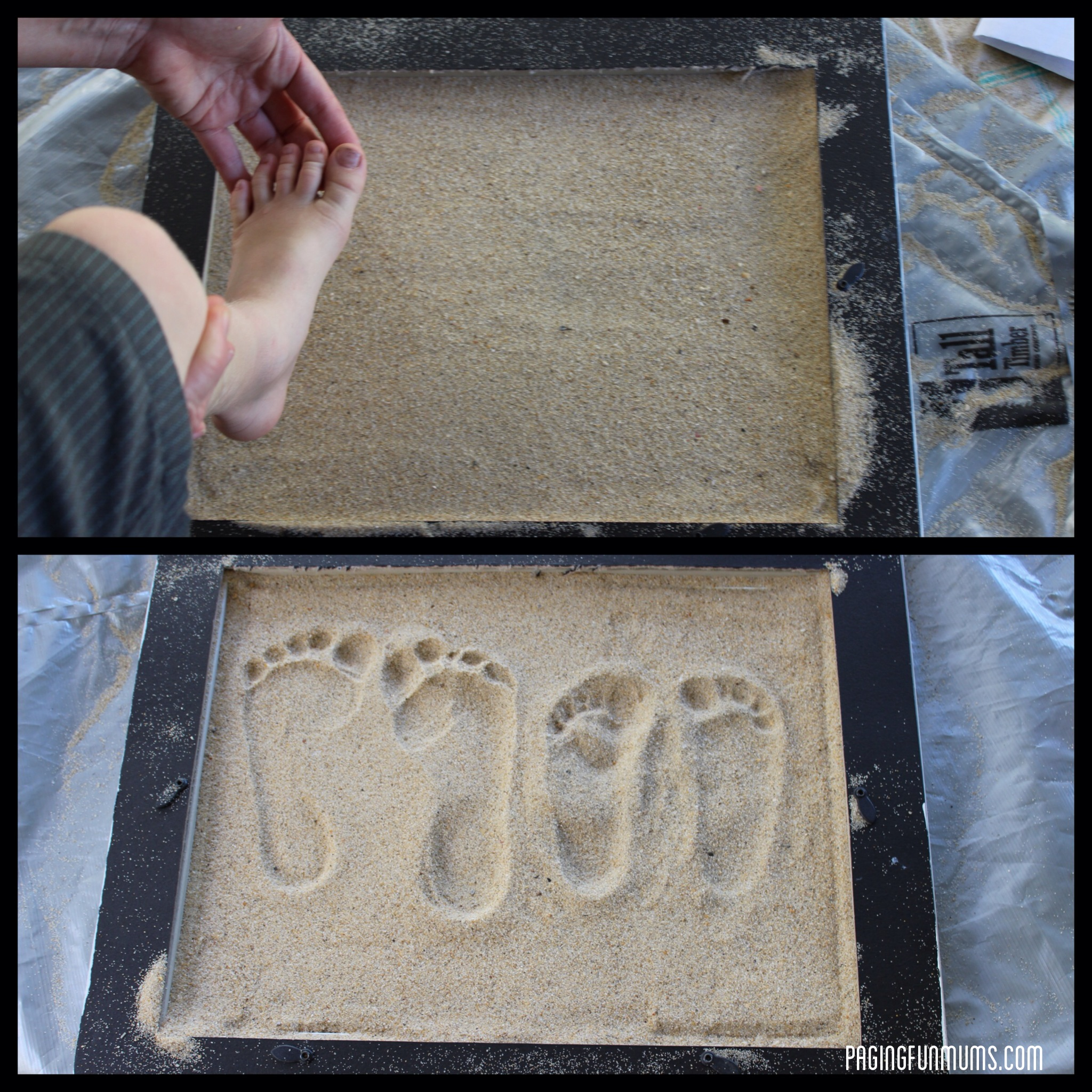 Sand Footprint Craft Full Diy Instructions Paging Fun
