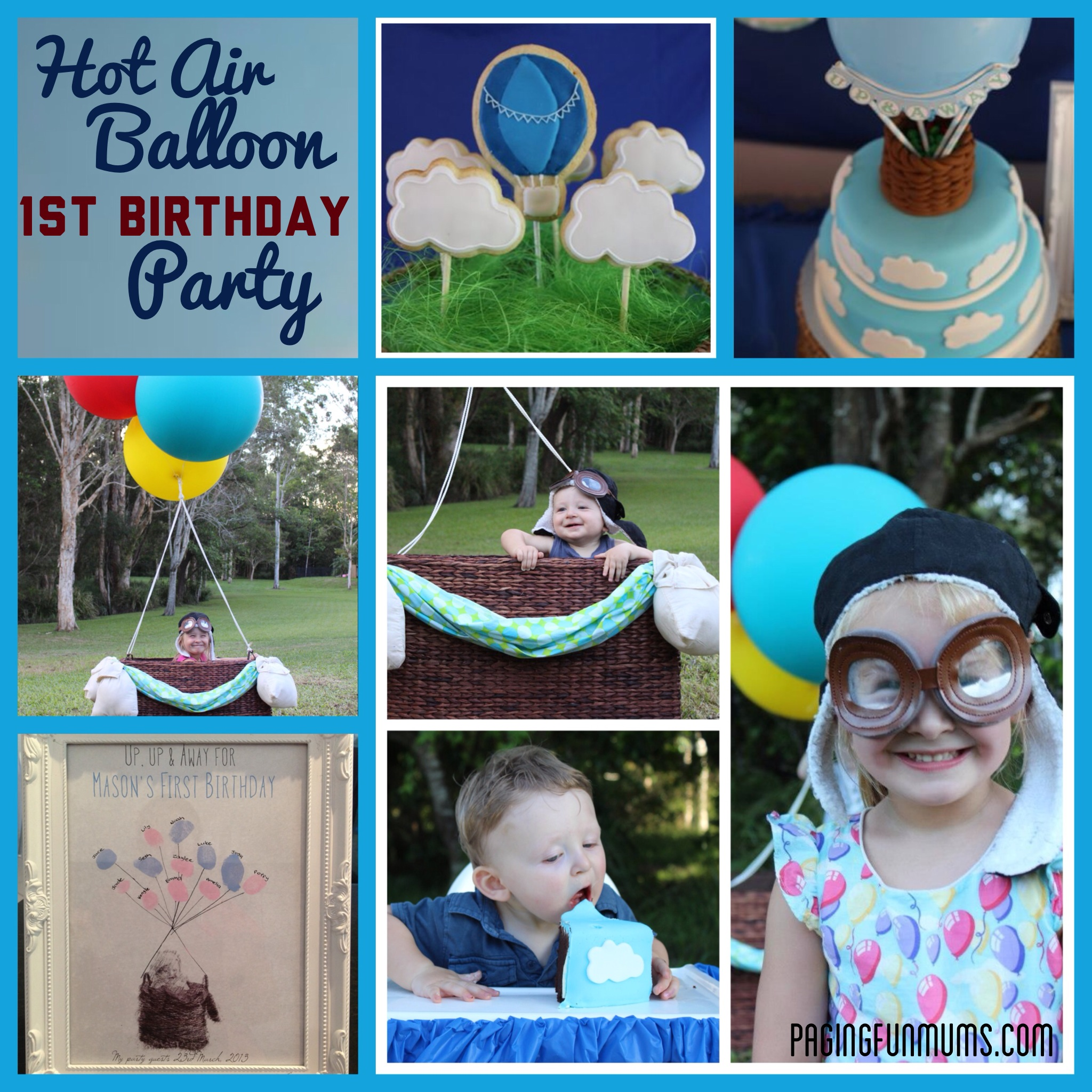 Hot Air Balloon Party for 1st Birthday