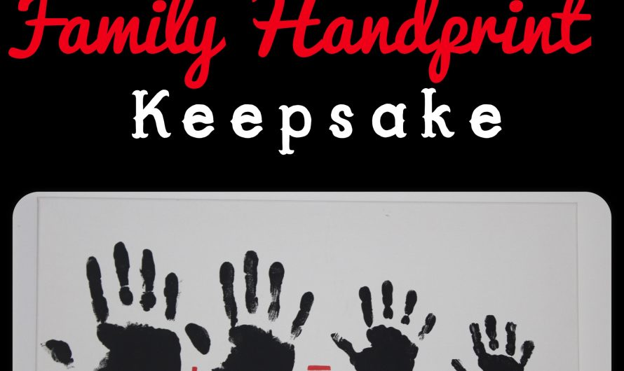 Easy DIY Family Handprint Keepsake