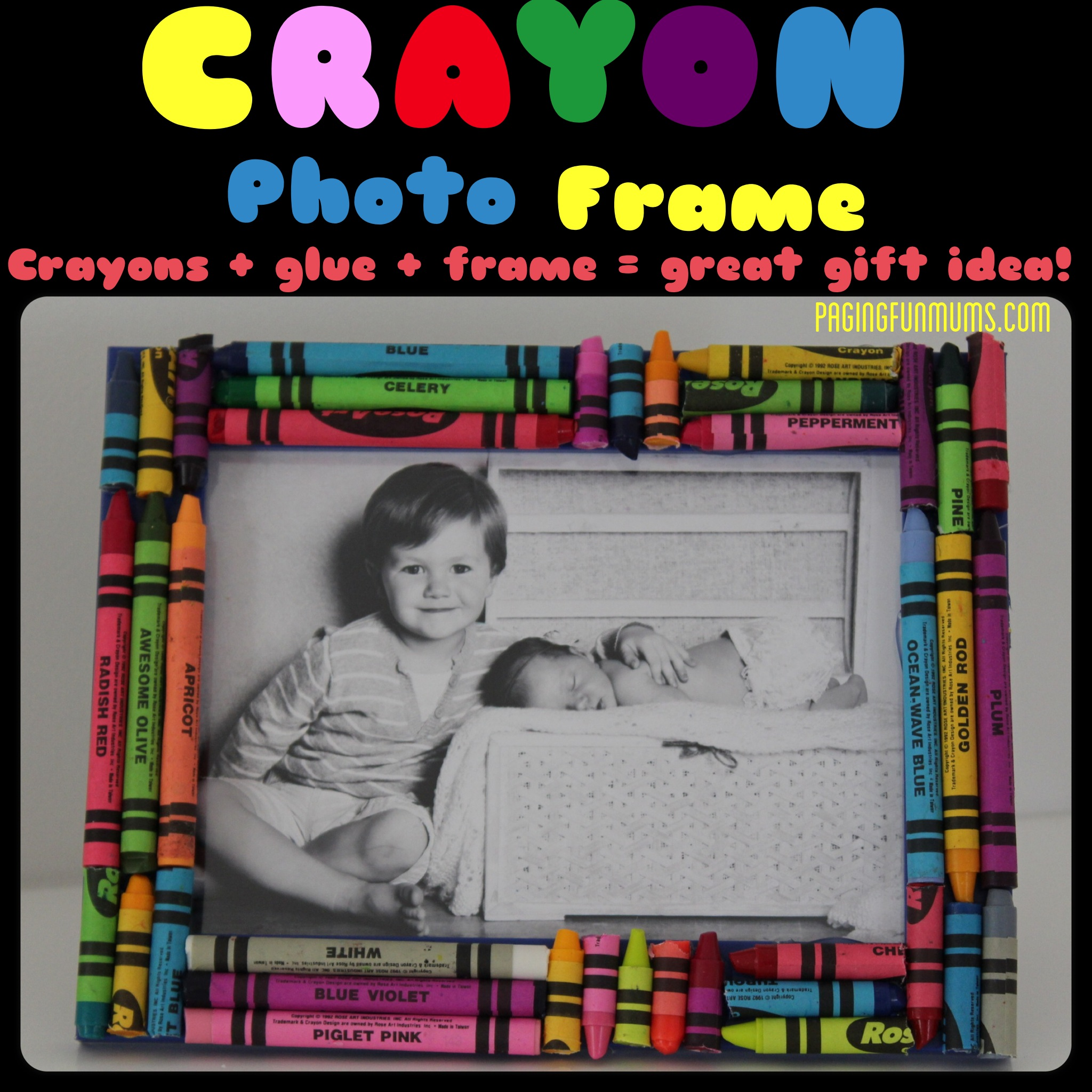 Crayon Photo Frame – handmade by kids