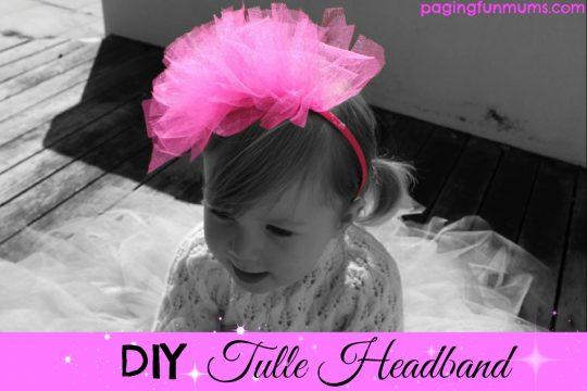 DIY Tulle Headpiece