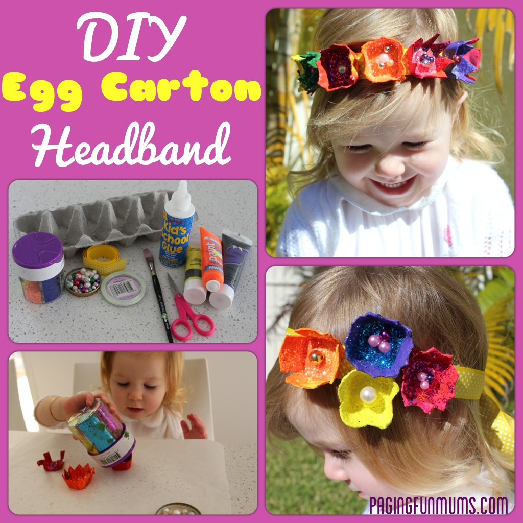 Egg Carton Headbands