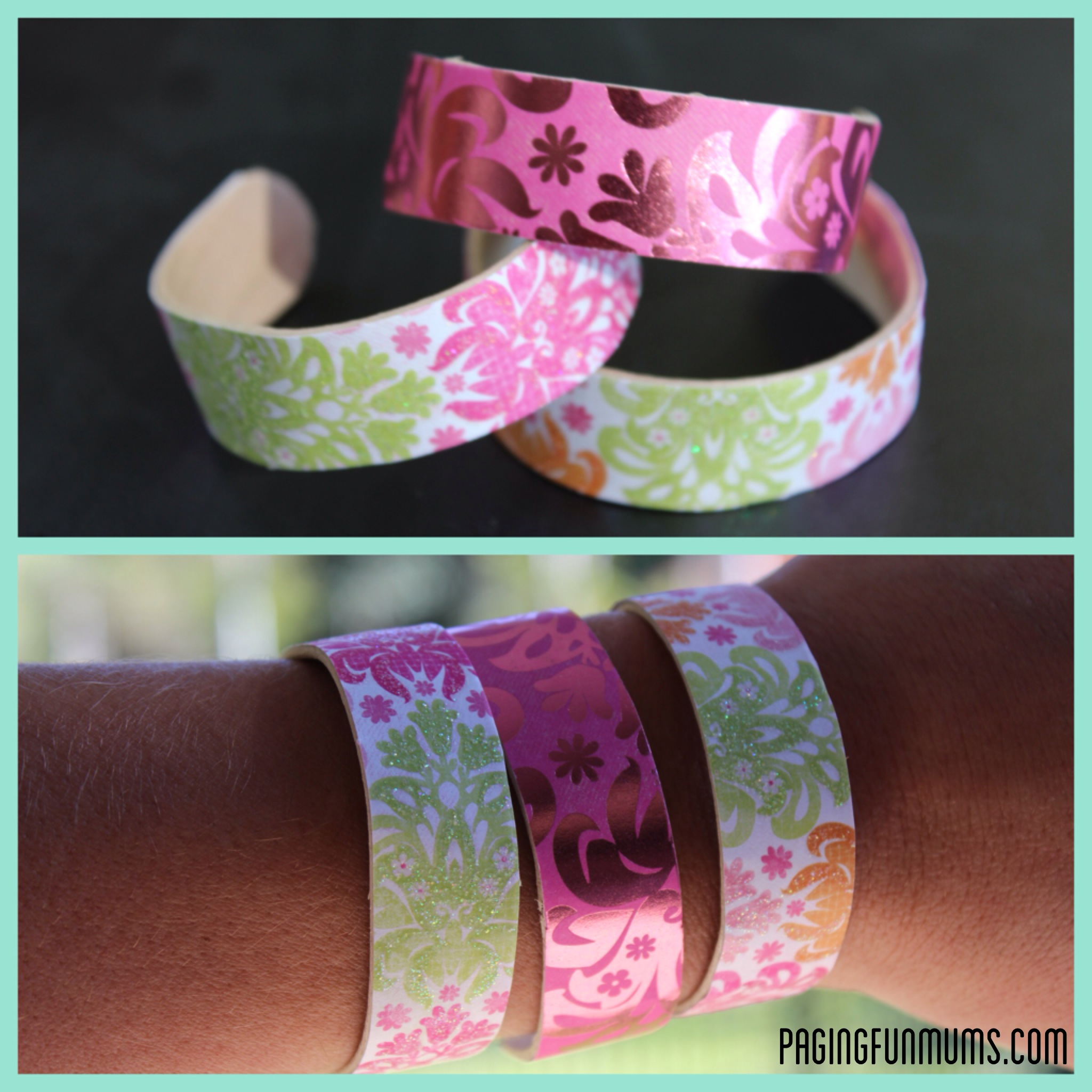 DIY – Wooden Popsicle Stick bangles! (Louise)