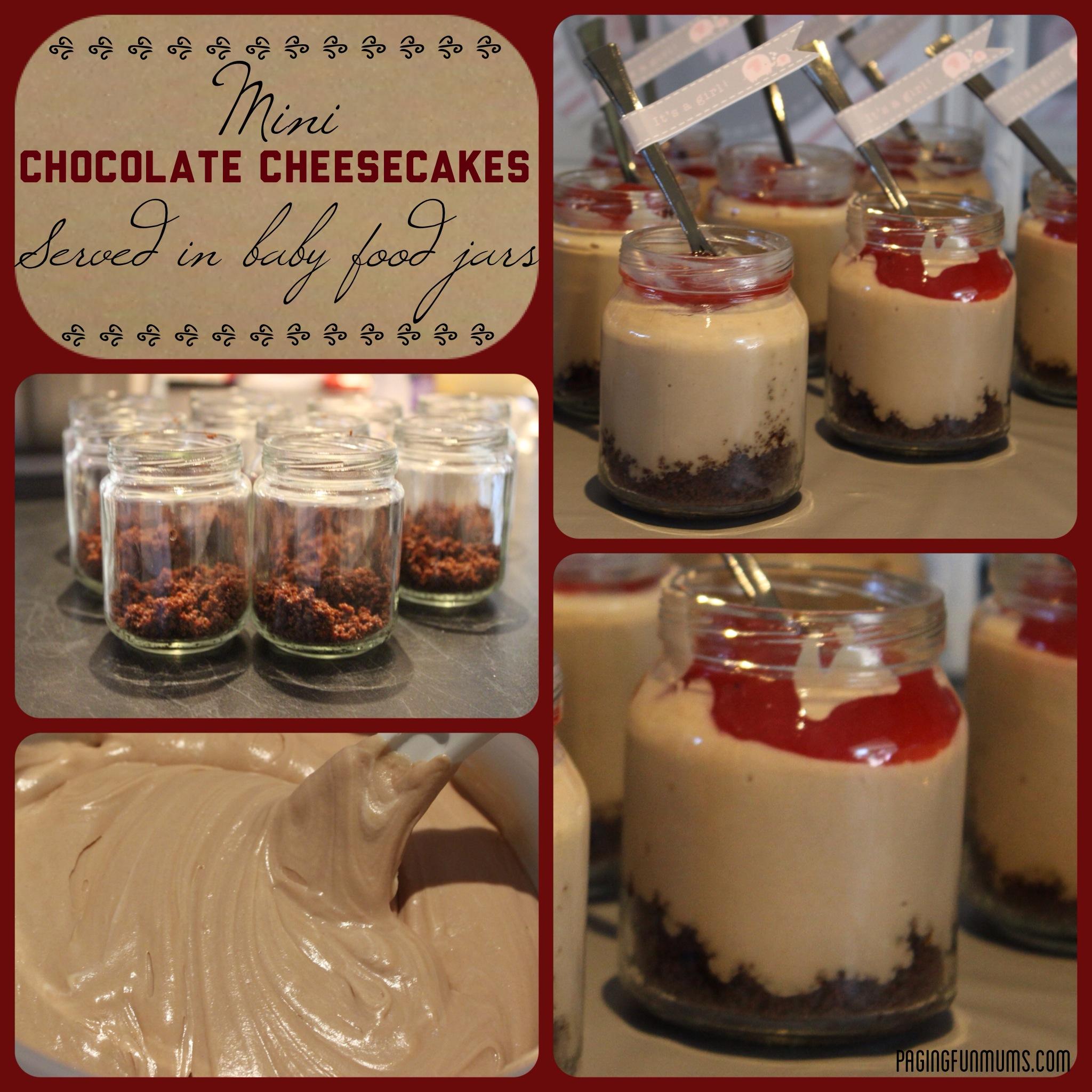 Mini Chocolate Cheesecake Jars