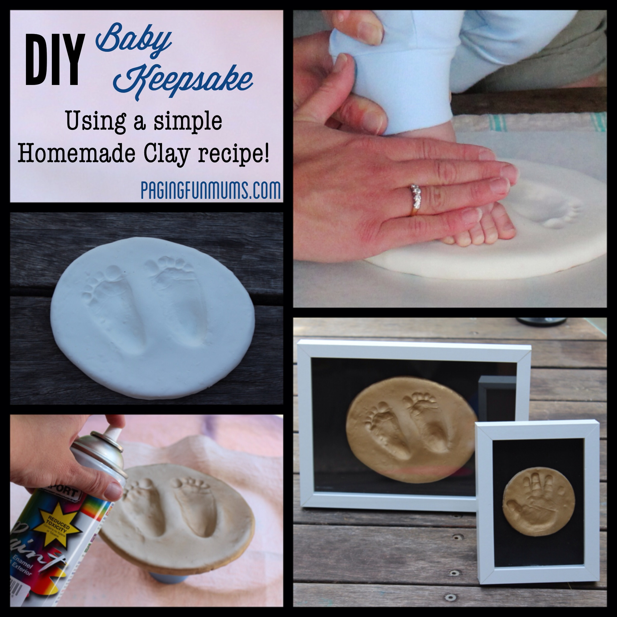 DIY Baby Keepsake – using Homemade Clay!