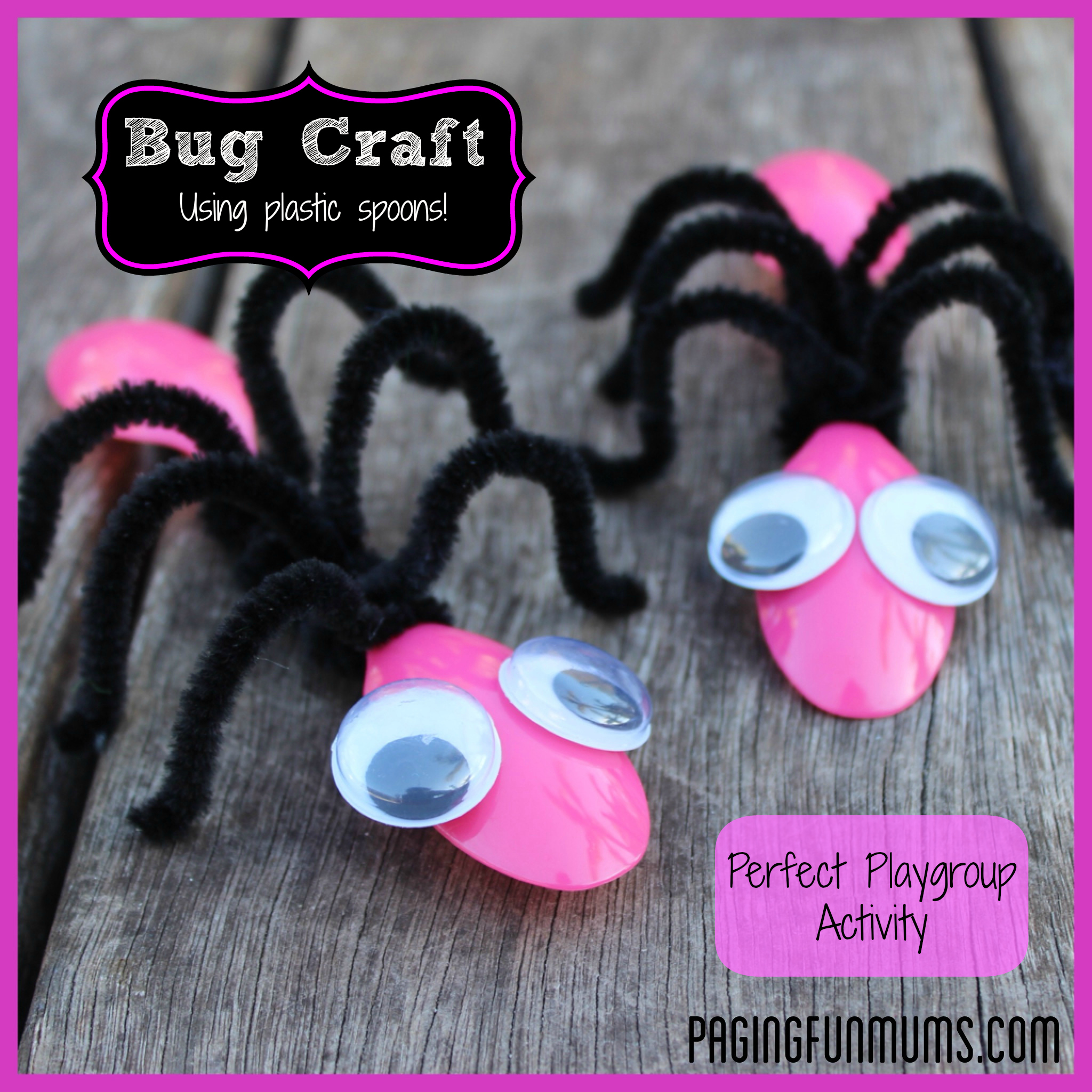 Cute BUG Craft – using Spoons and Pipe Cleaners!