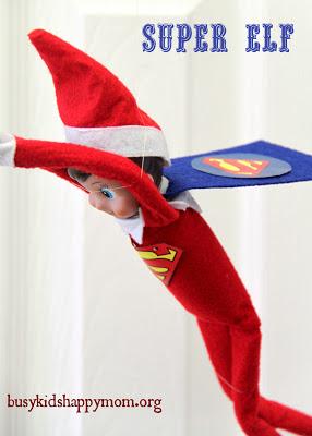 Elf on the Shelf Ideas - Super Franklin