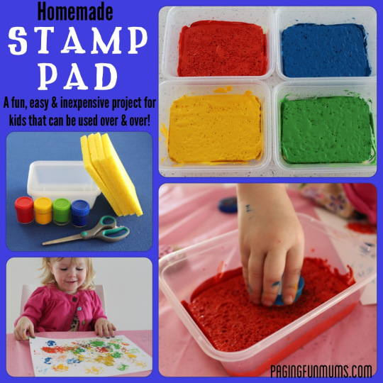 Homemade Stamp Pads for kids