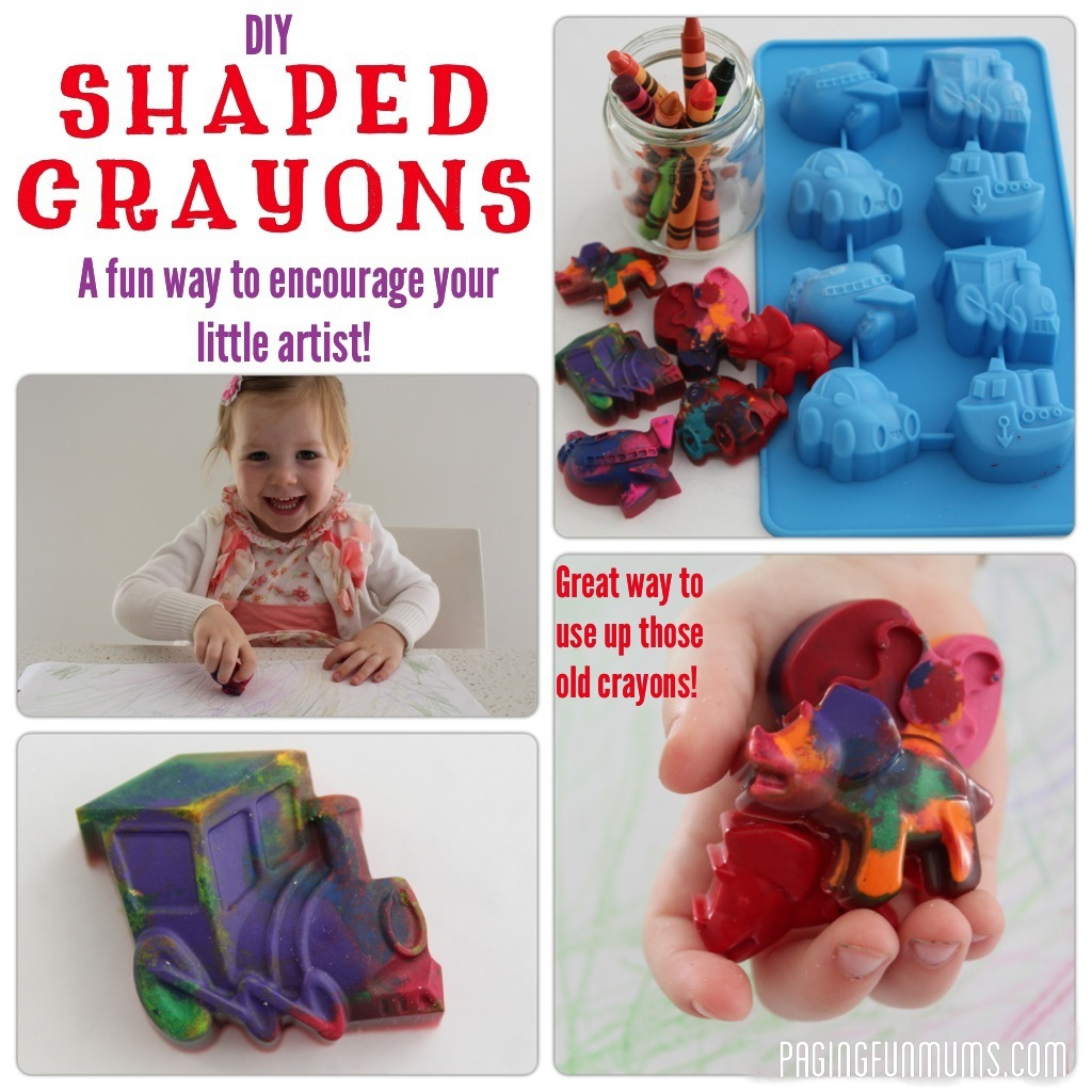 DIY Shaped Crayons!