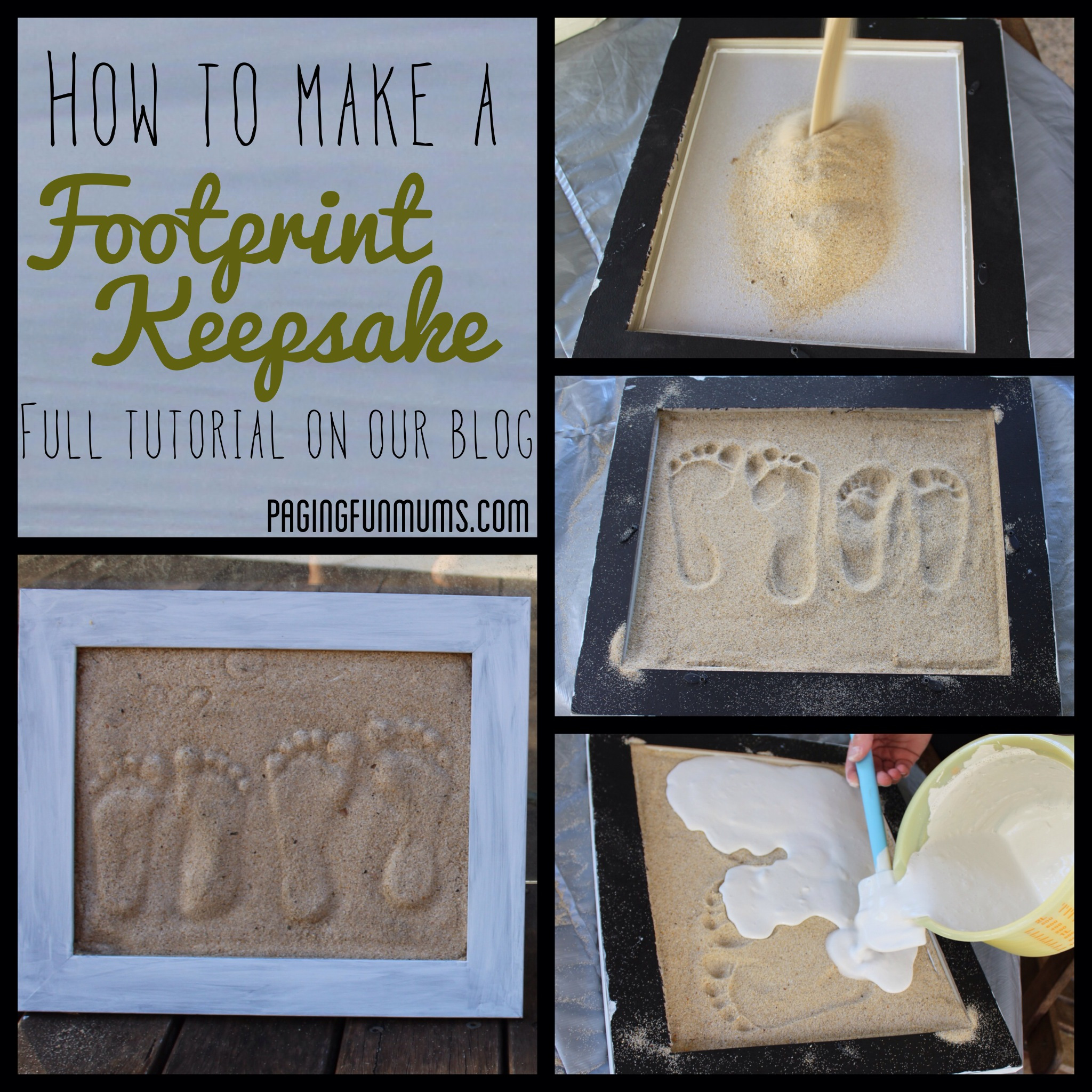 Sand Footprint Craft – Full DIY instructions!
