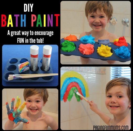 DIY Bath Paint! Great FUN for bath time!…only 2 ingredients