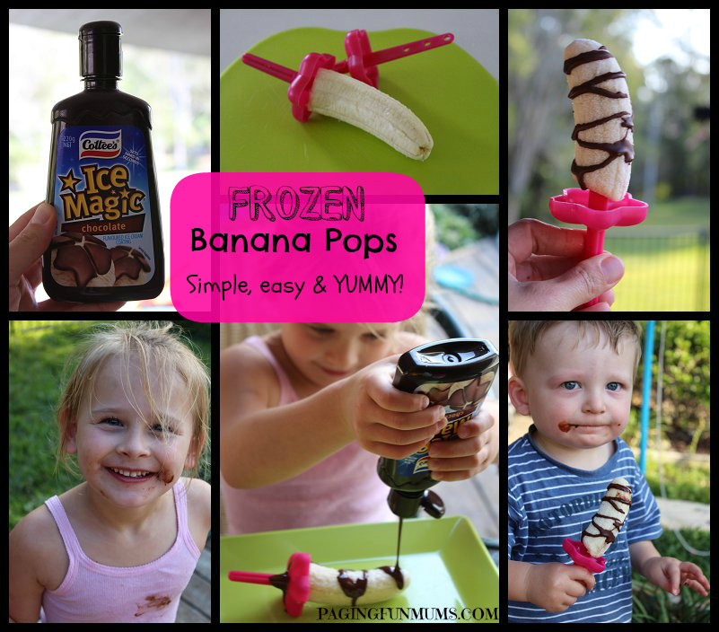 Choc Banana Pops - an easy & FUN treat for the kids!