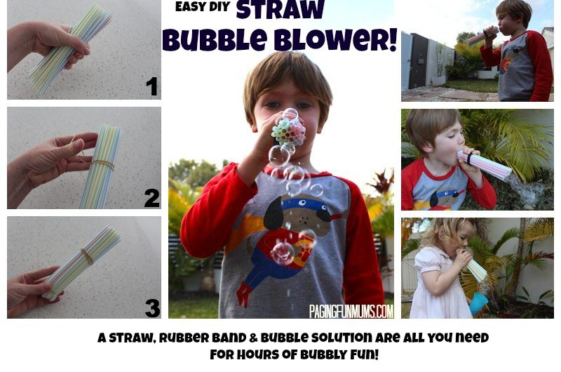 Magical Straw Bubble Blower