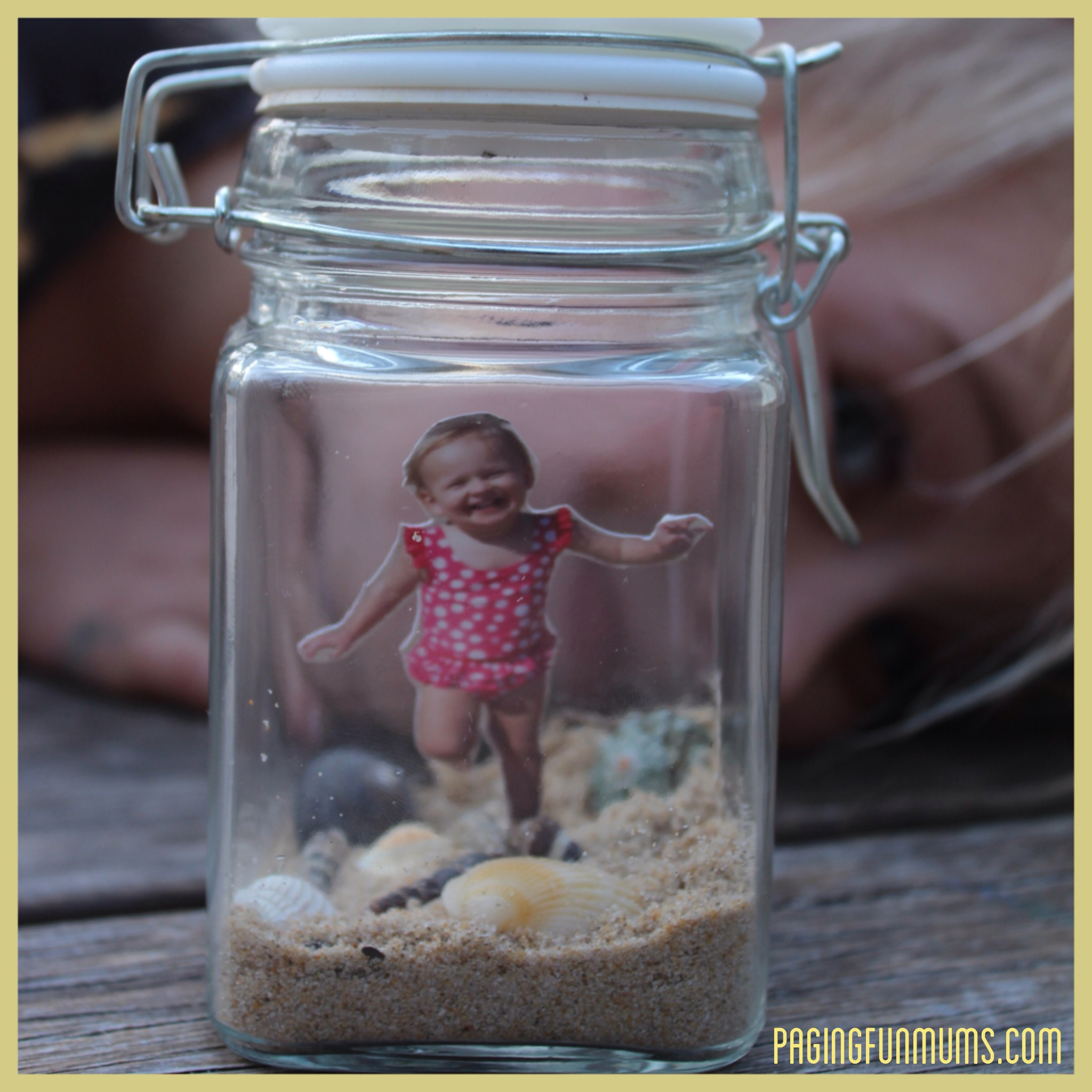 Beach Memory Jar - a special keepsake filled with happy memories and little treasures.