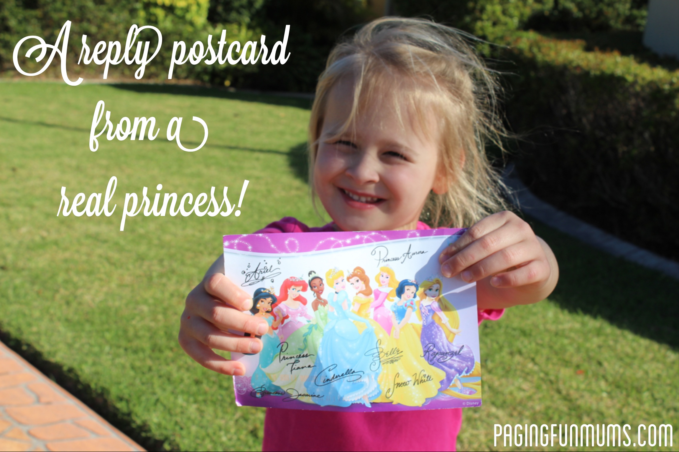 Write & recieve a postcard from a Disney Princess!