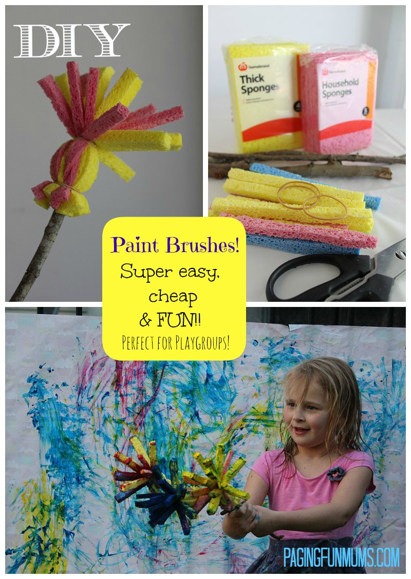 DIY Sponge Paint Brushes
