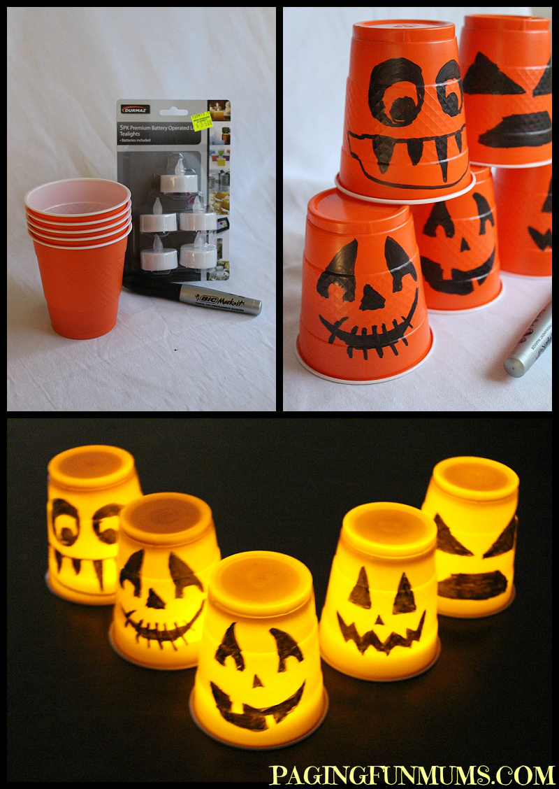 Halloween Cup Decorations