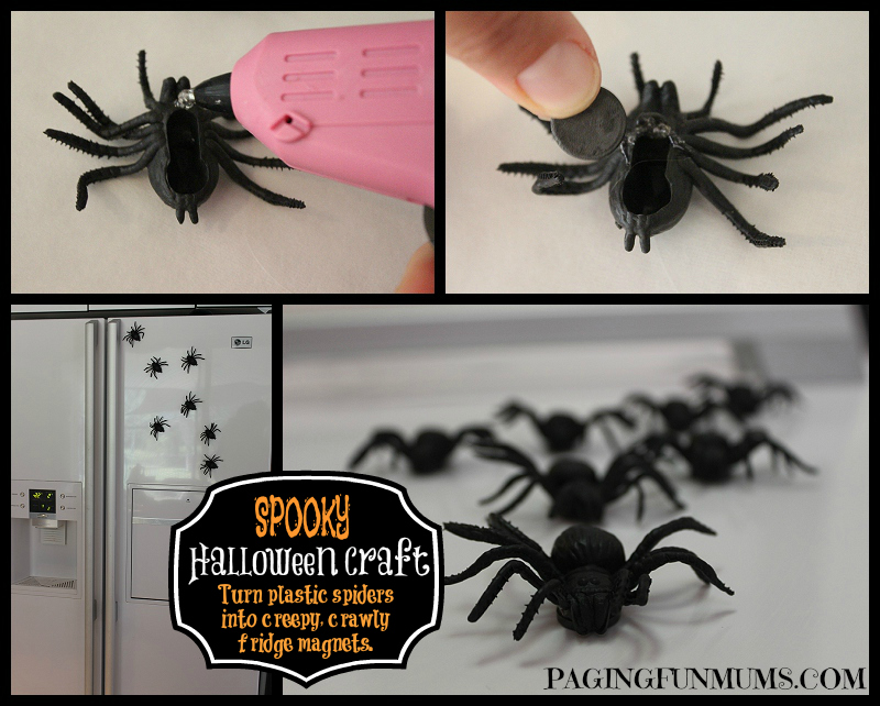 Easy Spider Magnet Craft for Halloween!
