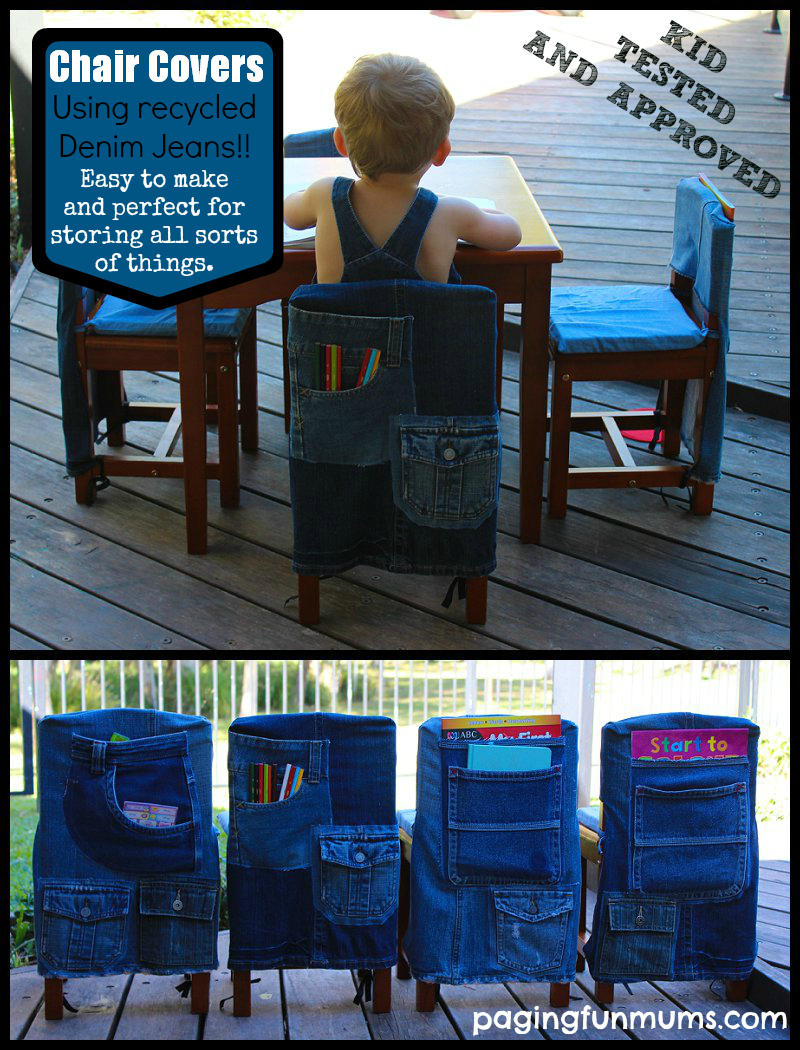 Well known Recycled Denim Kid's Chair Covers - Paging Fun Mums OU68