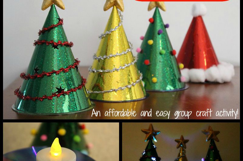 Glowing Christmas Tree Craft for Kids
