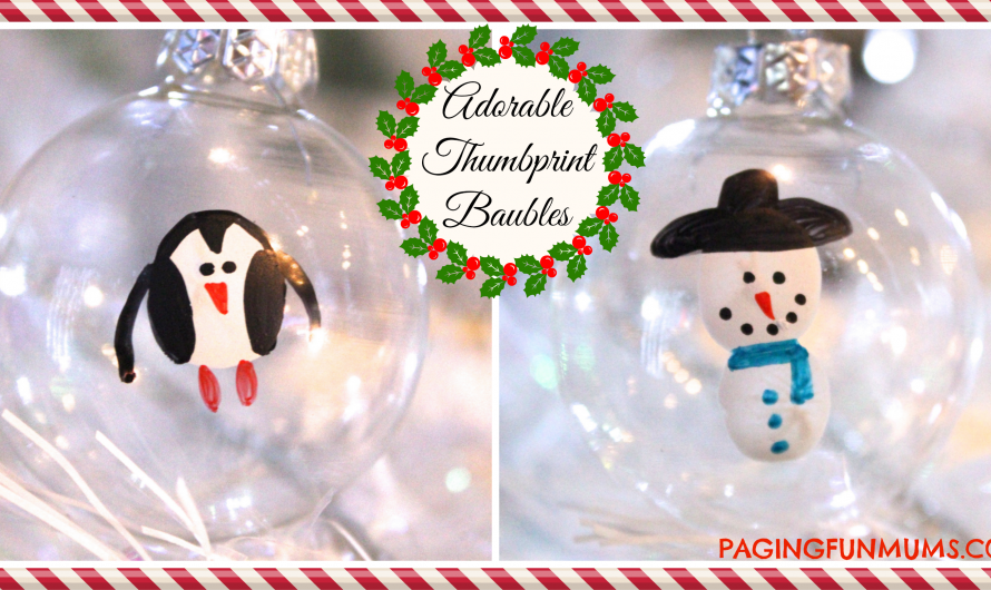 Adorable 'Snowman' & 'Penguin' Thumbprint Baubles!