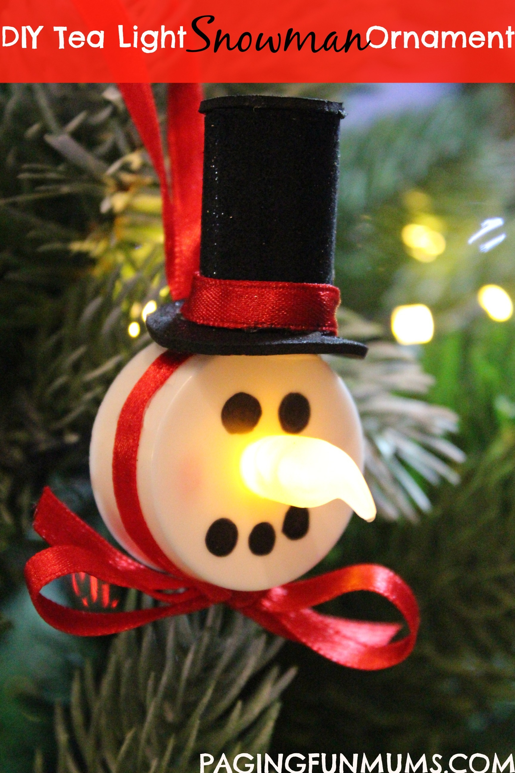 Tea Light Snowman Ornament