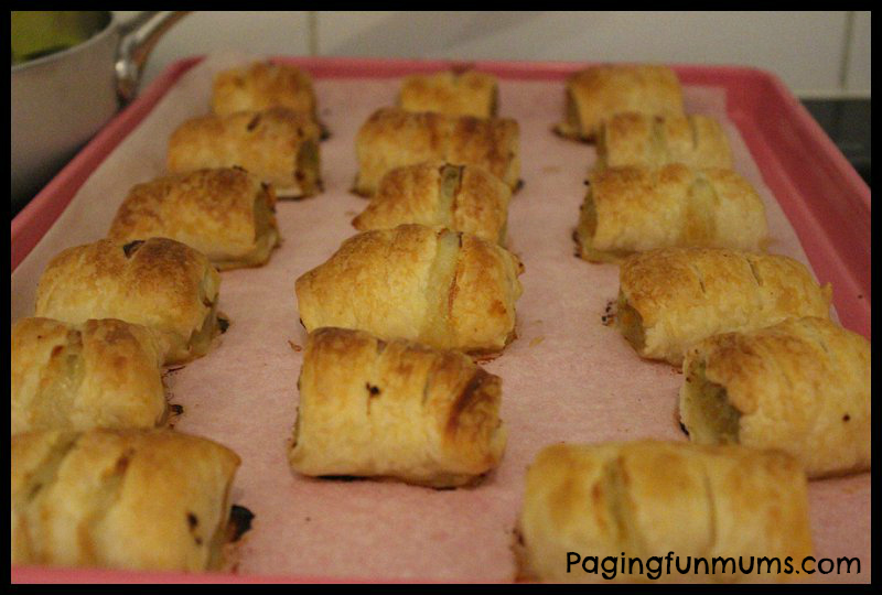 Healthy Chicken, Chickpea & Mango Sausage Rolls - The Kids will LOVE them!!