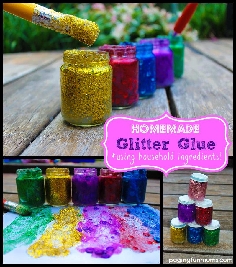 Homemade Glitter Glue