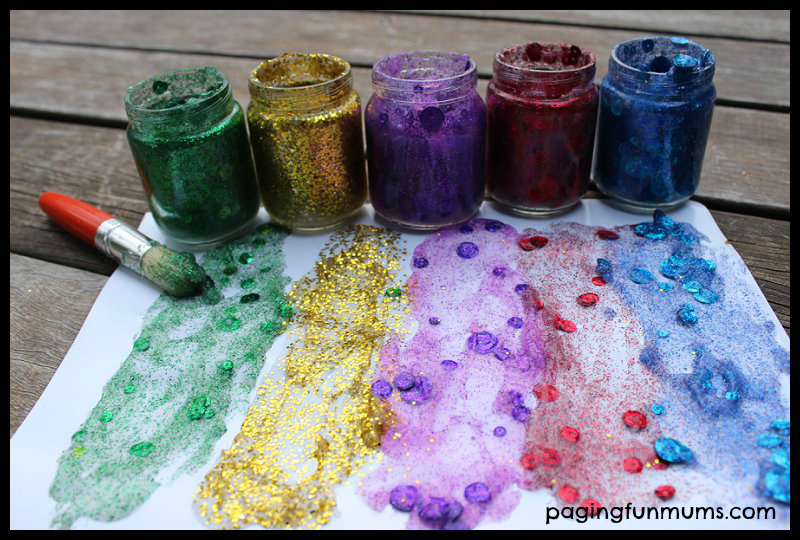 Homemade Glitter Paint