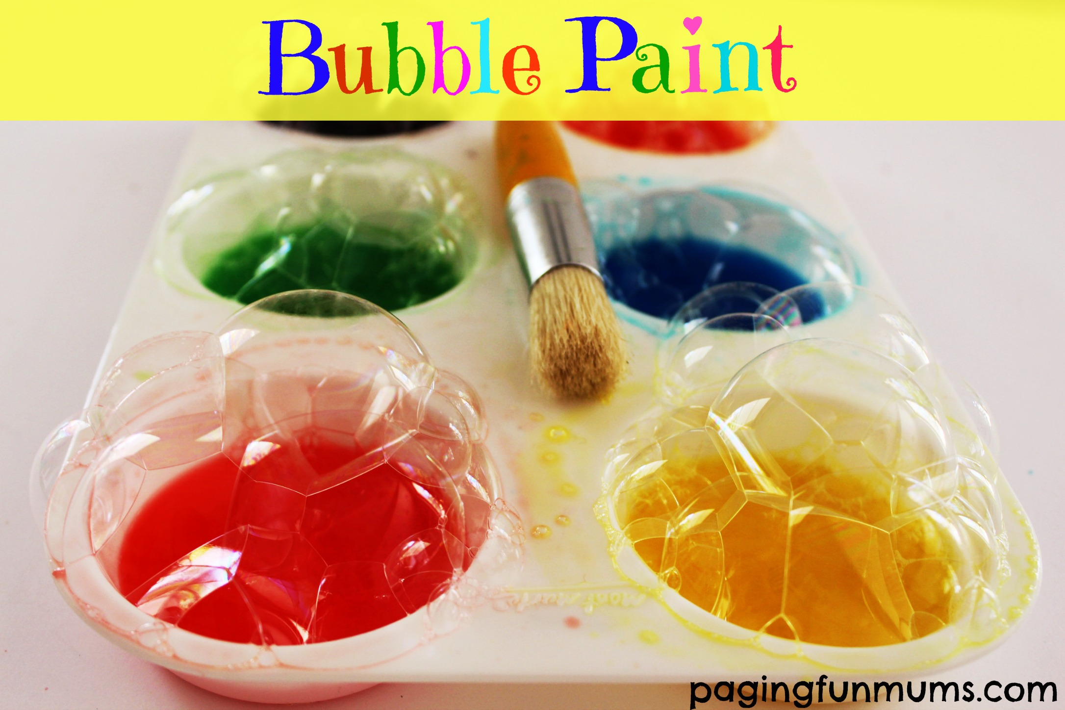 Bubble Paint…great for bath time