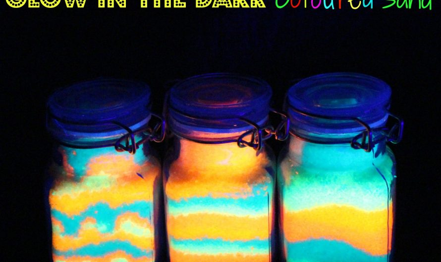Glow in the dark Coloured Sand