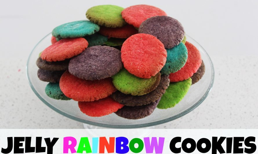 DIY Rainbow Jelly Cookies!