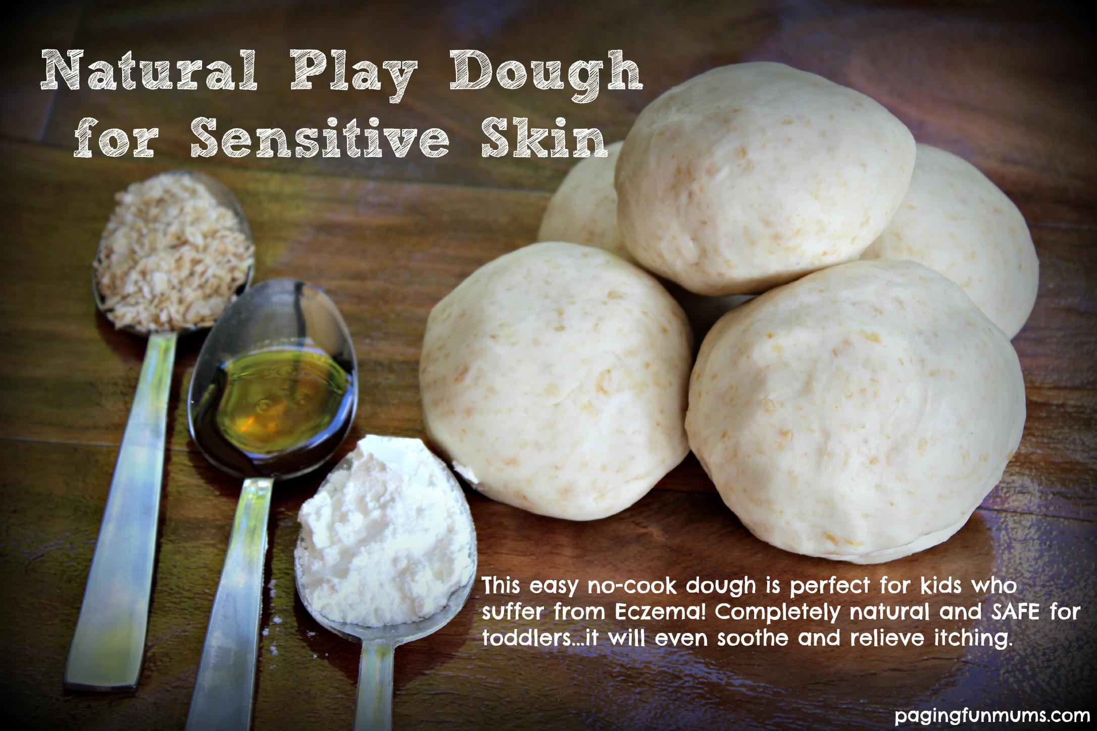 Natural Play Dough Recipe for Sensitive Skin