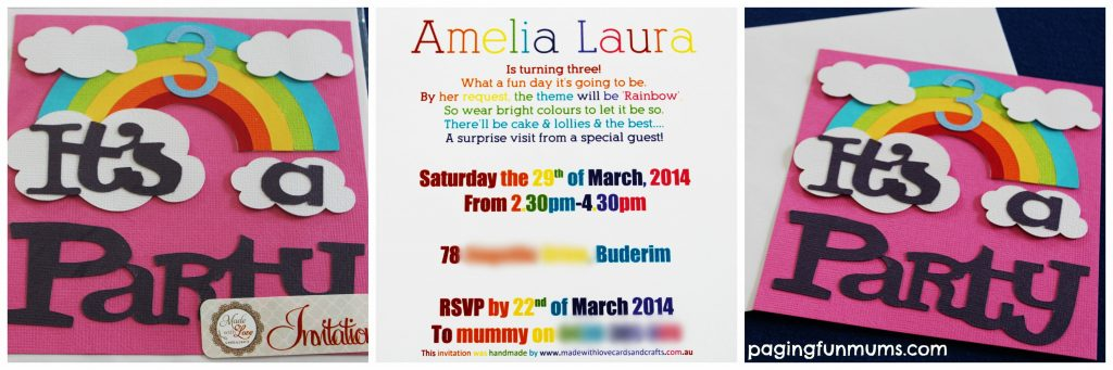 Rainbow Invitation Collage