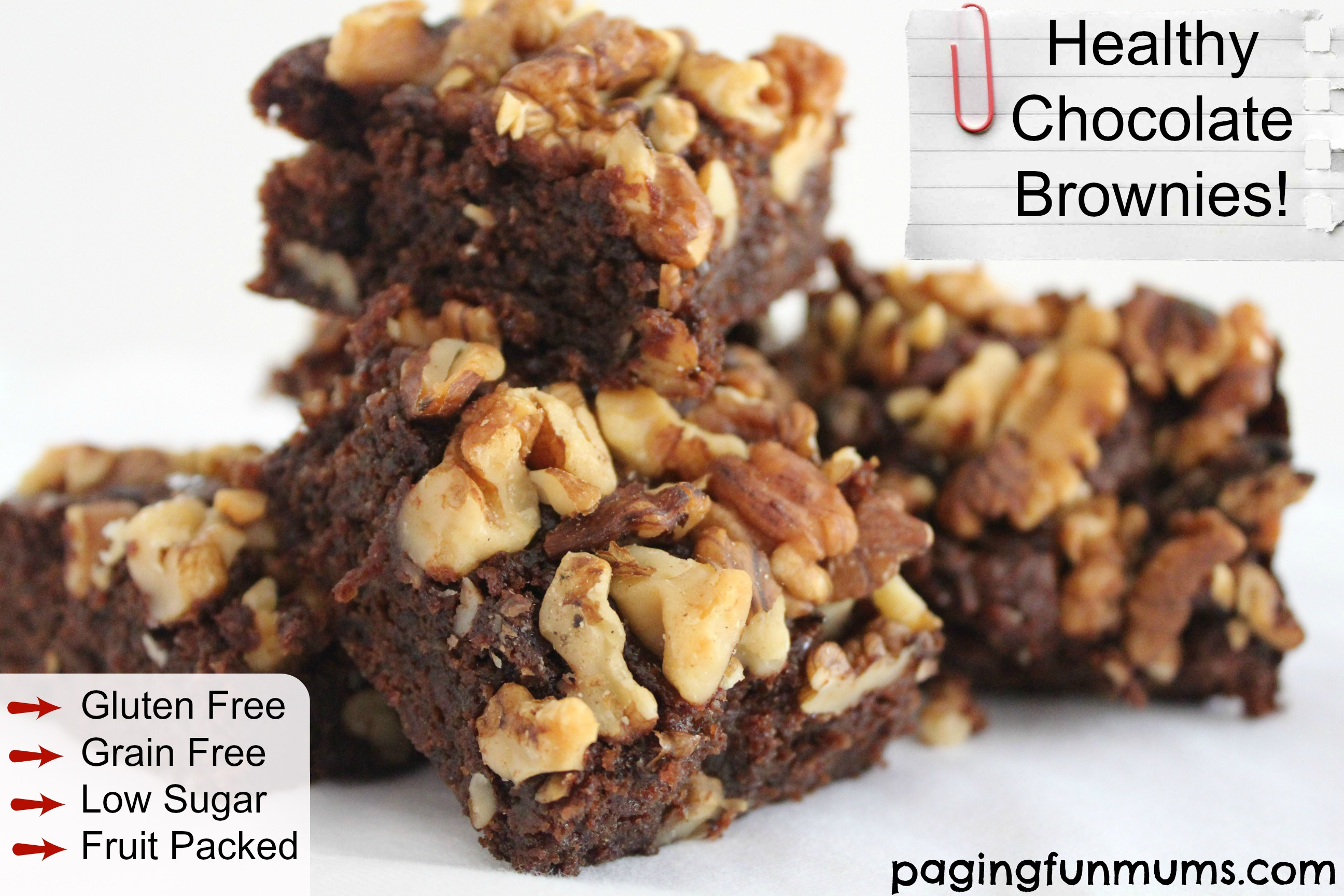 Healthy Chocolate Brownies – great for kids lunchboxes