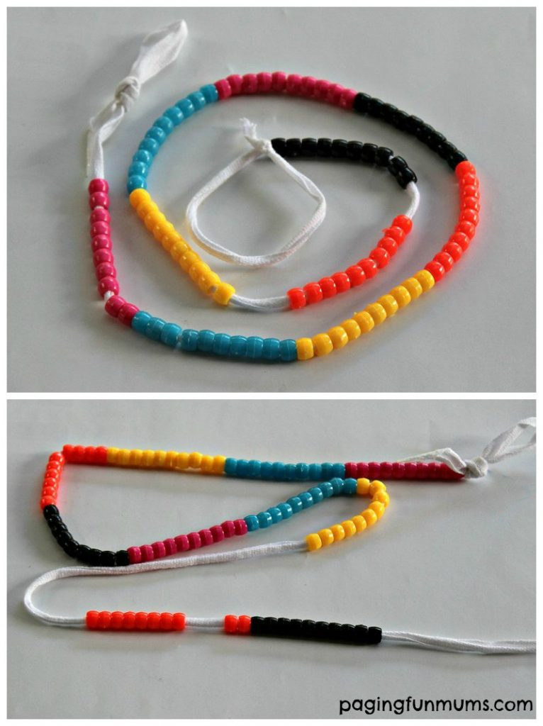 DIY Counting Beads with a shoelace