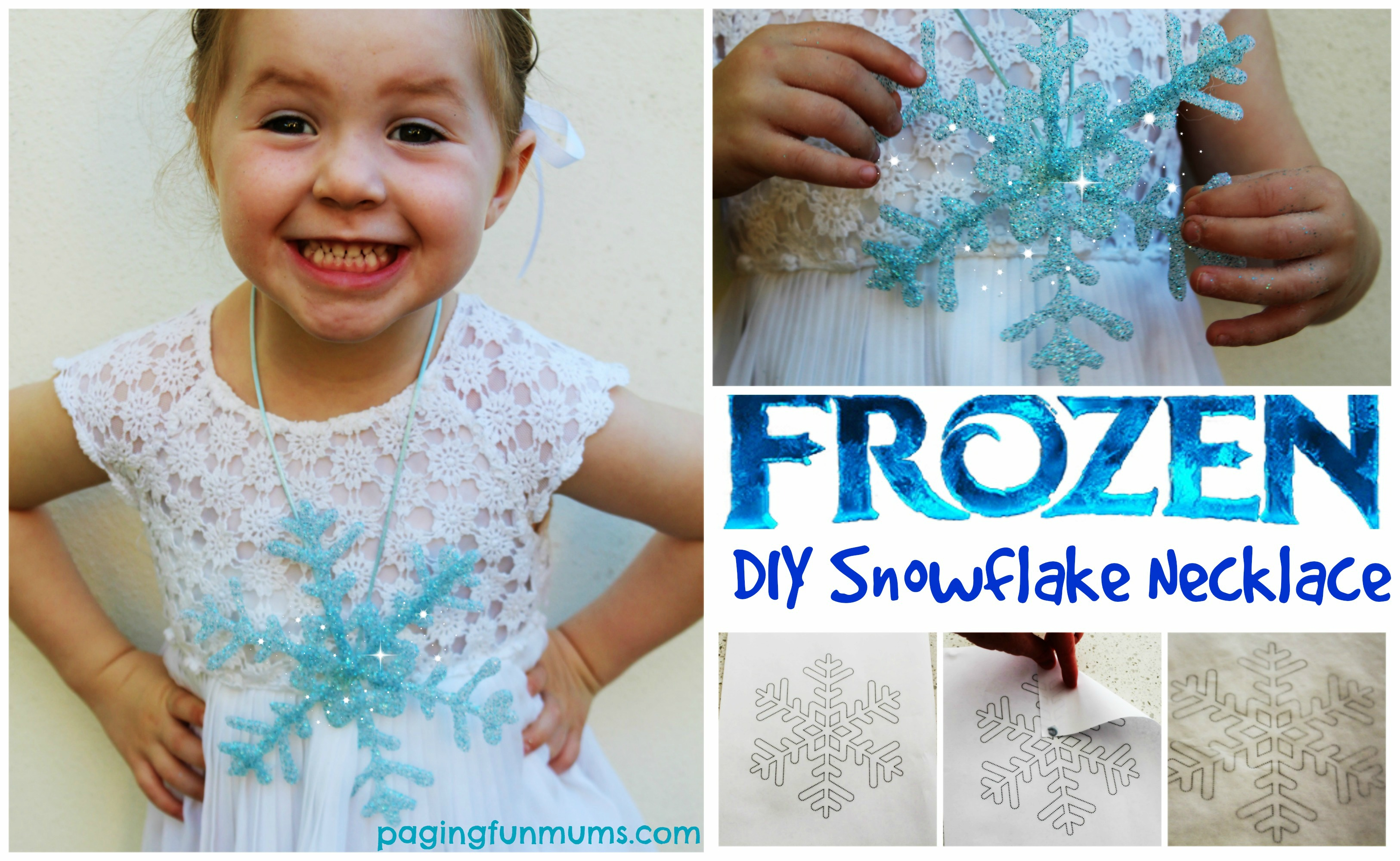 'Frozen' Snowflake Necklace