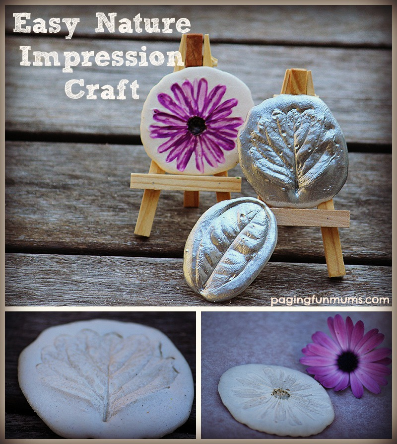 fun craft ideas nature impression craft 2061