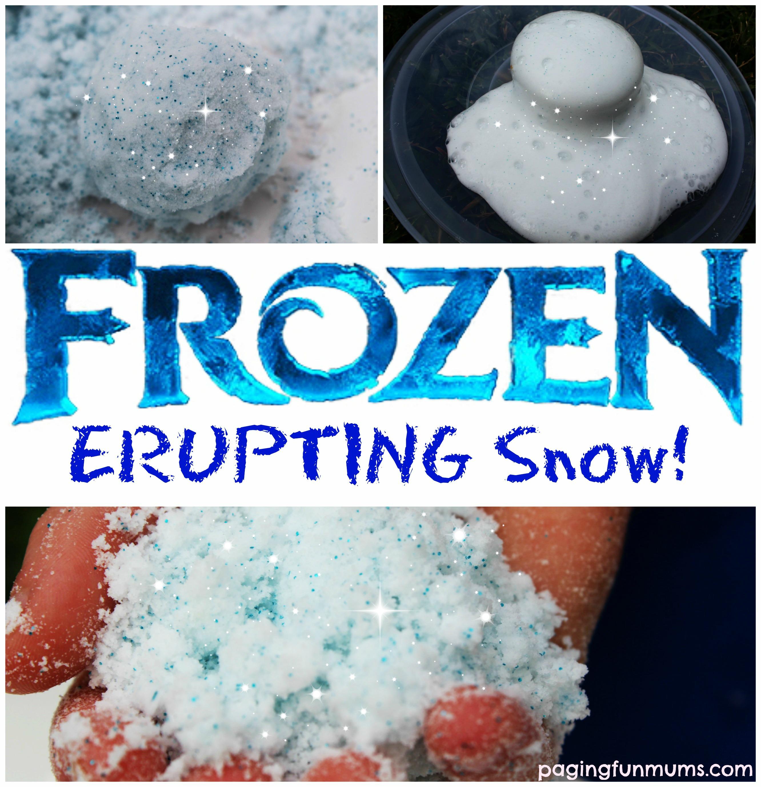 39 frozen 39 erupting snow