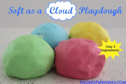 Soft as a Cloud Playdough