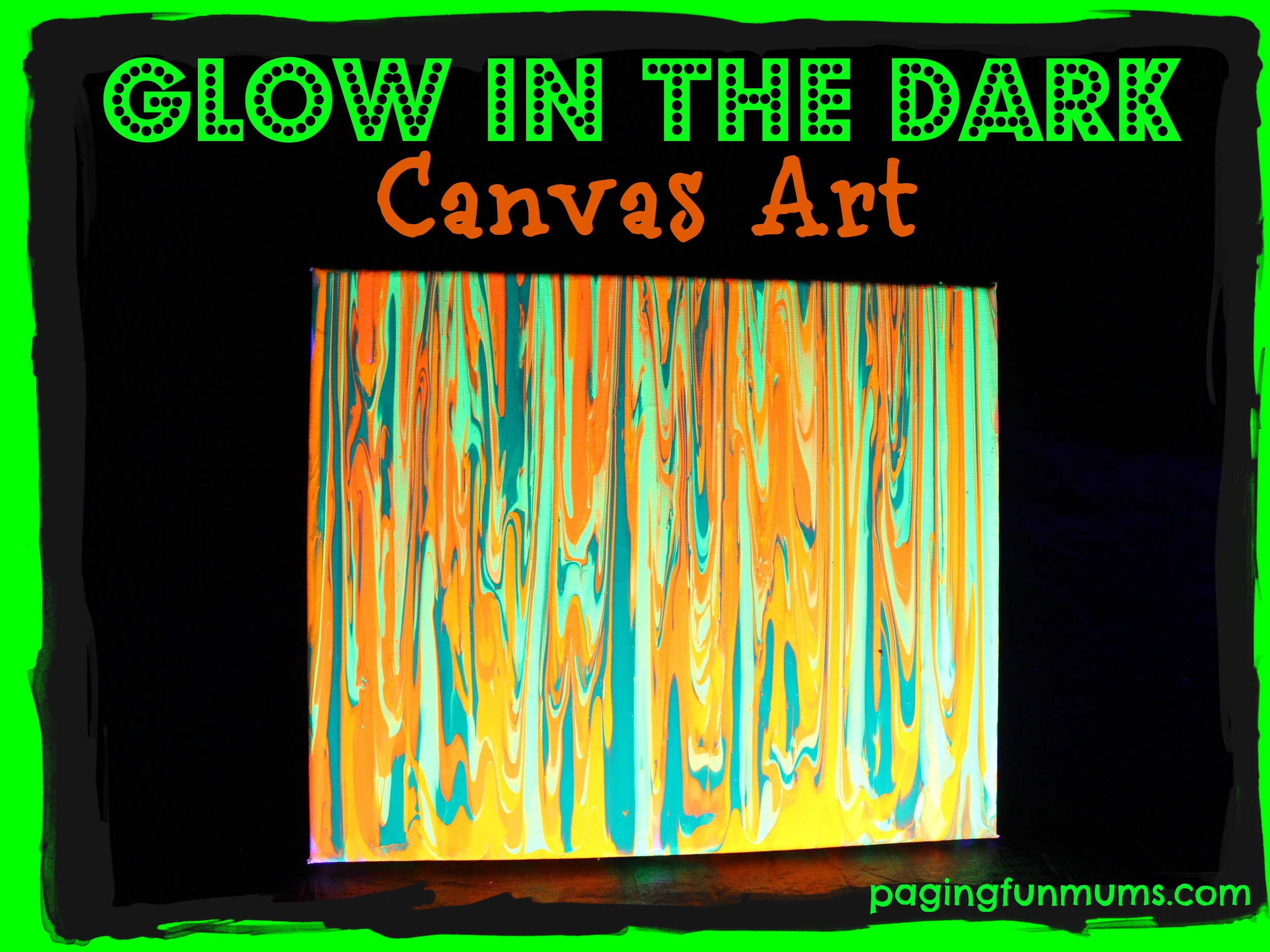 Glow in the dark canvas art