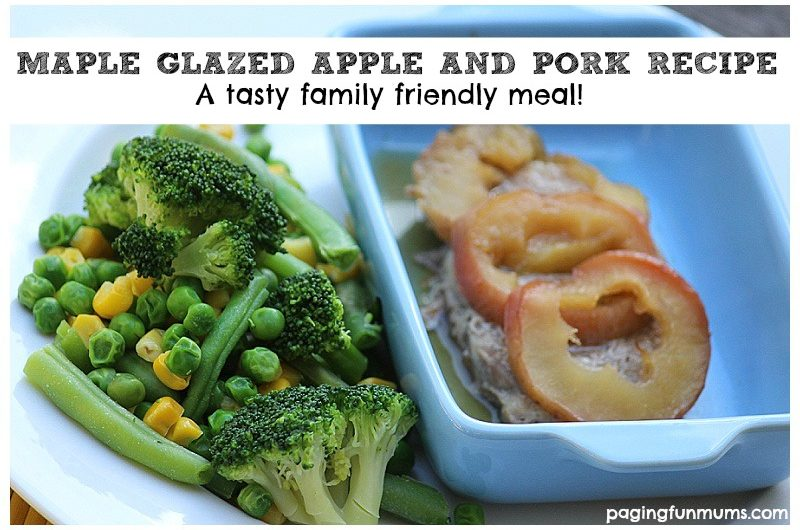 Maple Glazed Apple & Pork Recipe