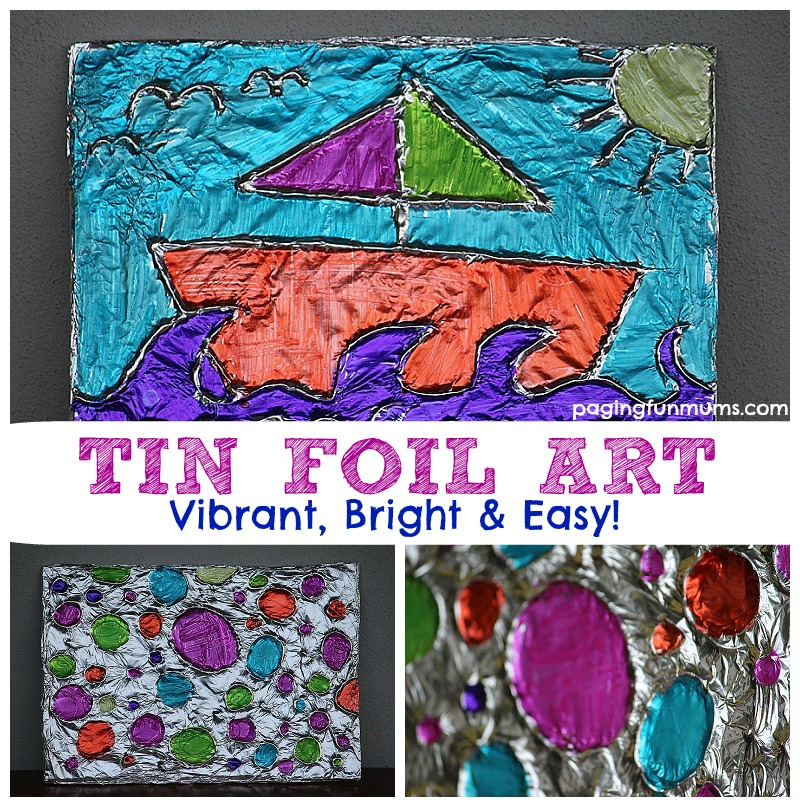 Textured Tin Foil Art