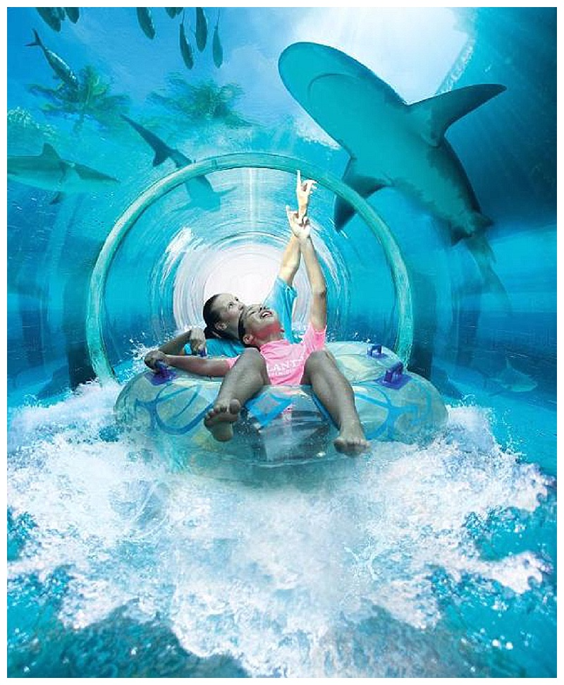 underwater slide at atlantis the palm resort paging fun mums